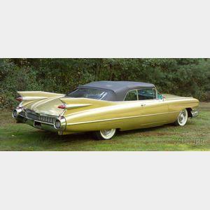 *1959 Cadillac Convertible Series 62 Deville, Vin # 59F417463