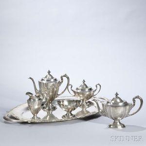 Five-piece Meriden Britannia Sterling Silver Tea and Coffee Service