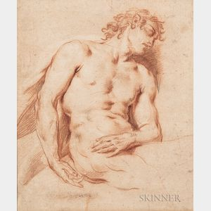 French School, 19th Century      Sleeping Male Nude