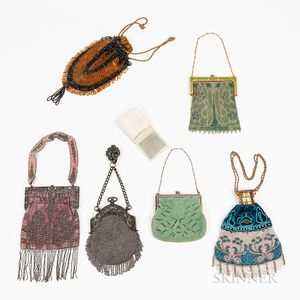 Six Vintage Beaded Purses