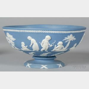 Wedgwood Solid Blue Jasper Footed Bowl