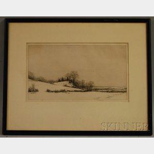 Kerr Eby (American, 1889-1946)      Tide Mill Marsh