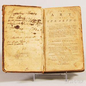 Burgh, James (1714-1775) The Art of Speaking