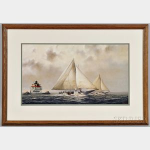John M. Barber (Annapolis, Maryland, Late 20th/21st Century)      Yacht Race