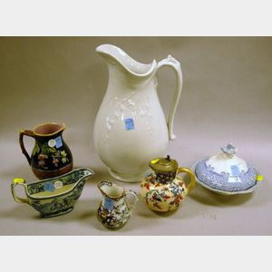Six Pieces of Assorted English Ceramic Tableware