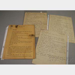 Duke Ellington Handwritten Narrative for the Beige   Movement of Black