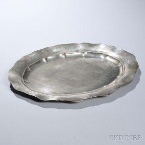 "Gorham Sterling Silver ""Standish"" Pattern Tray"