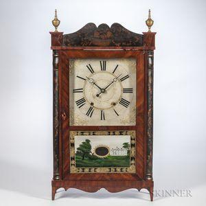 Samuel Terry Stencil-decorated Transitional Shelf Clock