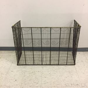 Early Brass and Wirework Firescreen