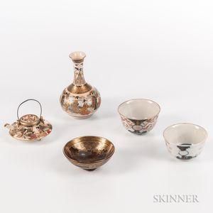 Five Miniature Imari and Satsuma Items