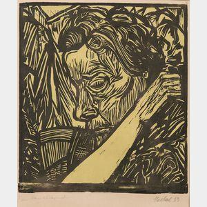 Erich Heckel (German, 1883-1970)    Frau schlafend