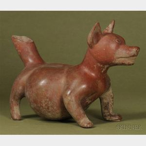 Pre-Columbian Pottery Vessel in the Shape of a Dog