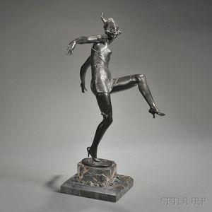 Art Deco-style Bronze Figure of a Dancer