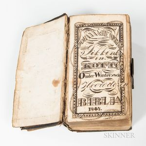 Dutch Bible with Fraktur