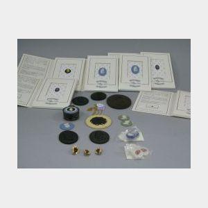 Twenty-four Wedgwood Society Items, Jasper and Basalt Medallions and Intaglios, Etc.
