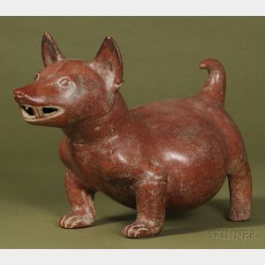 Pre-Columbian Pottery Dog