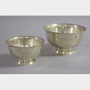 Two Gorham Sterling Revere-type Bowls