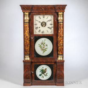 Seth Thomas Mahogany Sleigh-front Shelf Clock