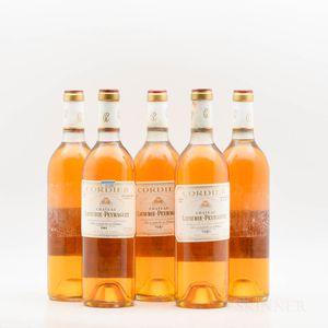 Chateau Lafaurie Peyraguey 1981, 5 bottles