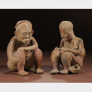 Pre-Columbian Pottery Couple with Child