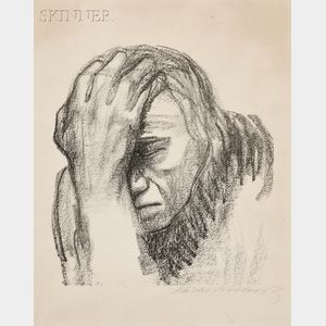 Käthe Kollwitz (German, 1867-1945)      Two  Portraits:  Selbstbildnis