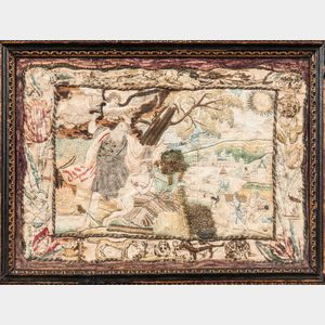 Stumpwork Picture of Abraham and the Sacrifice of Isaac