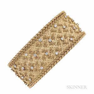 Georges L'Enfant 18kt Gold and Diamond Bracelet