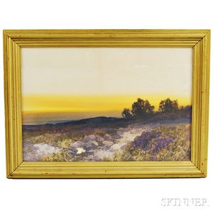 Frederick John Widgery (English, 1861-1942)      Sunset Landscape