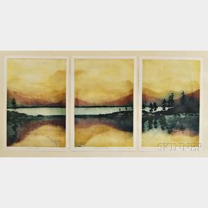 American School, 20th Century      Lake Teacup in the Sky  /A Triptych