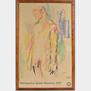 Framed 1972 Munich Olympics Poster
