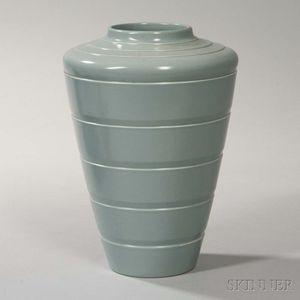 Wedgwood Keith Murray Design Matte Gray Ground Vase