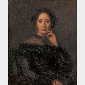 American/European School, 19th Century      Portrait of a Lady in Black