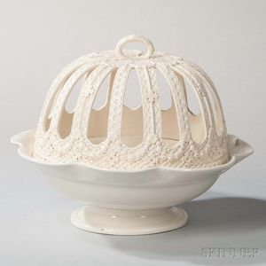 Wedgwood Queen's Ware Orange Bowl and Cover