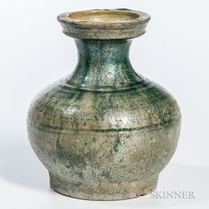 Miniature Green-glazed Pottery Vase