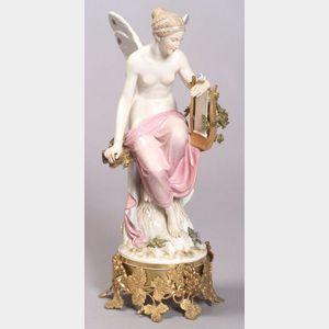 Meissen Porcelain Figure of a Winged Woman
