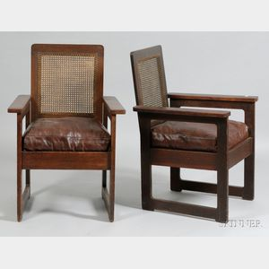 Pair of Stickley Brothers Armchairs