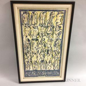 """Anthony Pilla """"In Erinnerung Un Entantete Kunst"""" Woodcut"""