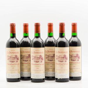 Chateau La Dominique 1990, 6 bottles