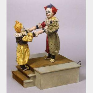 Rare Roullet et Decamps Automaton of Two Clown Acrobats