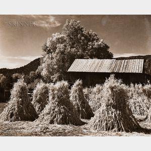Ansel Adams (American, 1902-1984)      Farm Near Orderville, Utah