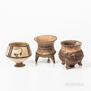 Three Painted Pottery Vessels