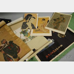 Six Japanese Scrolls and Prints