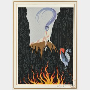Erté (French, 1892-1990)      The French Rooster