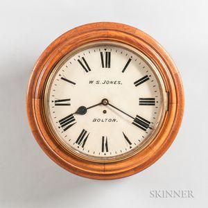 Chain Fusee Oak-cased Gallery Clock