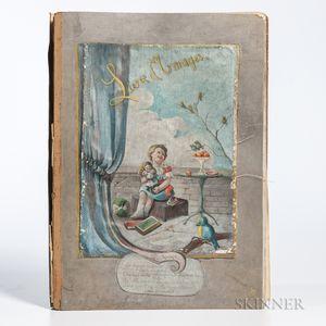 Bisch, Louisa C.C. (fl. circa 1920) Dedie aux Chers Enfants de mon Neveu le Dr. en Med. L.E. Bisch par leur Tante, Hand-painted Manuscr
