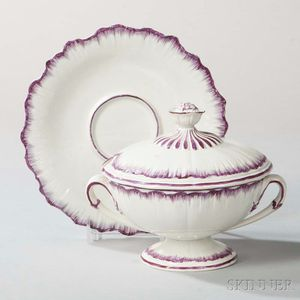 Wedgwood Pearlware Sauce Tureen, Cover, and Stand