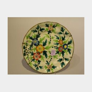 Italian Floral Decorated Faience Plate