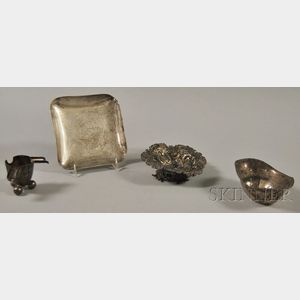 Four Assorted Small American, English, and Mexican Silver Items