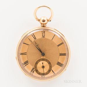 18kt Gold Key-wind Open-face Watch