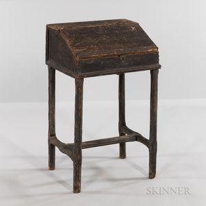 Pine Lift-lid Desk Box on Frame